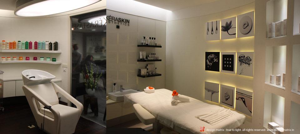 Lighting design for Looks Salon by Design Matrix - India\'s Leading ...